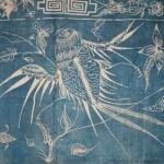 Détail de l'oiseau (partie supérieure du Batik)